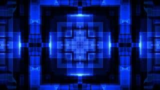 Blue Geometric VJ Loop X81