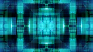 Blue geometric with detail lines VJ