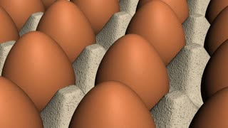 Brown Eggs in Crate Looping Animated Background