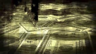 Burning Flag Money Grunge Non Loop