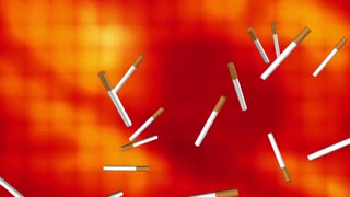 Cigarettes smoking abstract background loop