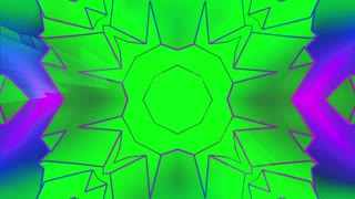 Crazy color geometric VJ loop
