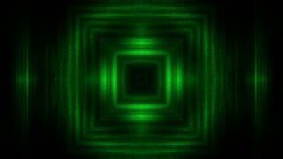 Darkness and green tunnel looping animation