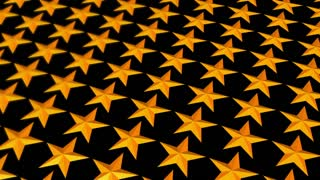 Depth of Field Gold Stars Looping Animated Background
