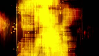 Fire geometric looping VJ abstract