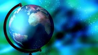 Globe soft flowing blue green loop