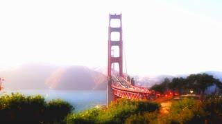 Golden Gate Bridge tilt shift style