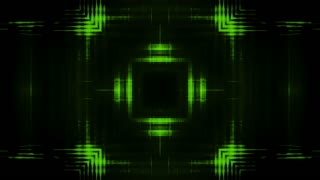 Green and black geometric looping motion design backdrop