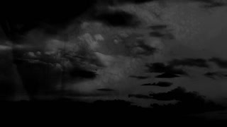 Horror black and white clouds blood knife