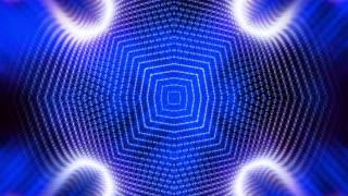 Kaleidoscopic blue wire frame loop