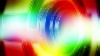 Multicolor Abstract geometric loop