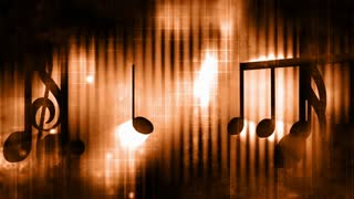 Music notes dark grunge background