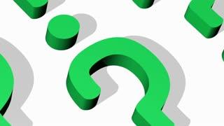 Question Mark Closeup Loop