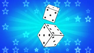 Retro Dice Looping Background