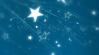 Stars and Wisps in Light Blue Looping Background