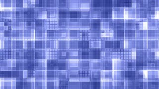 Strobe blue squared VJ style abstract animated background