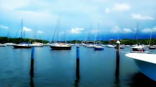 Tilt Shift Time Lapse Boats