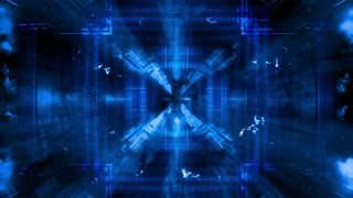 Animated blue VJ high tech mashup abstract CG looping background