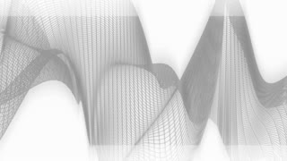Black And White Wire Frame Looping Abstract Background
