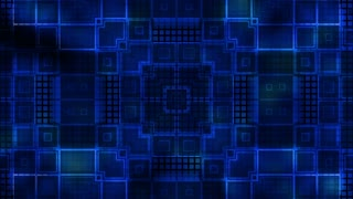 Blue abstract geometric square strobe animated VJ looping CG background