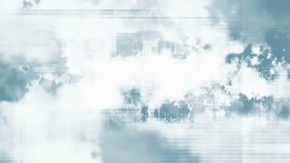 Blue and white geometric looping CG abstract background