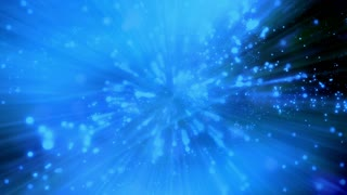 Animated abstract blue black and green particles and streaks looping HD backdrop