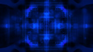 Blue wire frame multiple colors looping CG animated backdrop