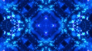 Chaos particles in blue hue VJ abstract animated looping CG backdrop
