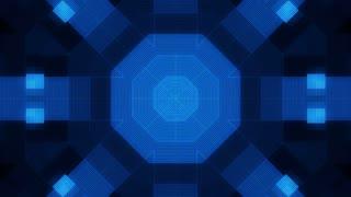 Darkness and blue geometric VJ loop