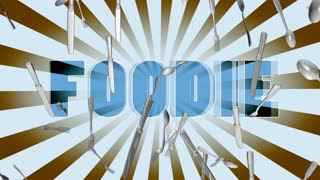 Food Retro Looping Animated Background Color Option Two