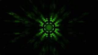 Geometric abstract green and back animated high tech CG looping background