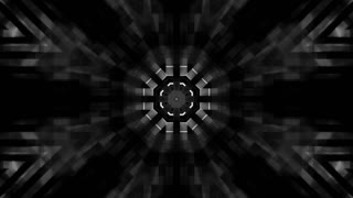 Geometric black and white CG abstract animated looping background