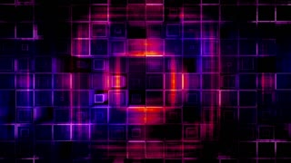Geometric VJ looping multicolored squared abstract animated CG backdrop