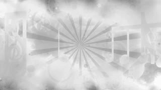 Looping color option two black and white retro style music animated background