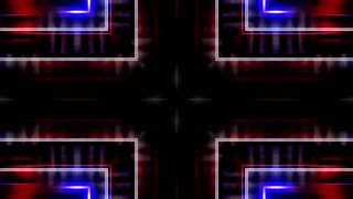 Looping geometric streaks animated red blue and white VJ CG abstract animated backdrop
