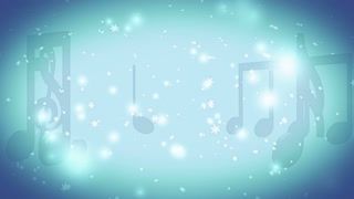 Christmas holiday music winter snow flakes in blue and white animated looping background