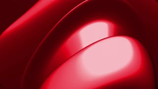 Red metallic organic shape abstract looping animated CG background