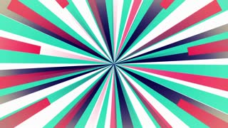 Retro circle of bars multicolored looping background