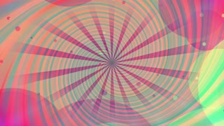 Retro multicolored looping swirl and shapes animated CG abstract backdrop