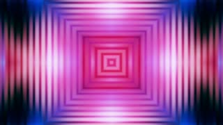 Square multi colored hypnotic abstract animated CG background