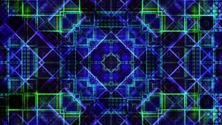VJ geometric grid squared blue green looping animated CG looping background