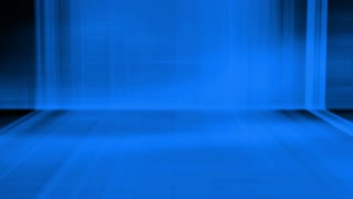 Wall and floor of projected abstract animation in blue looping background