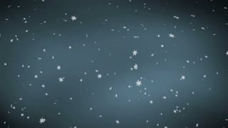 Winter snow falling blue gray sky looping animated CG background