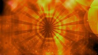Yellow orange retro cosmic looping abstract CG seamless animated backdrop