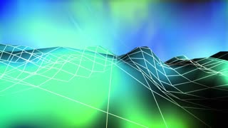 Wire low poly mountain abstract looping background