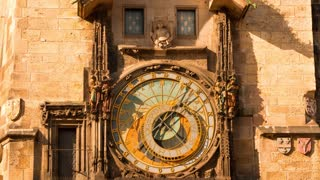 Ancient Astronomical Clock. Time Lapse 4K