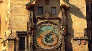 Ancient Astronomical Clock with Moving Figures
