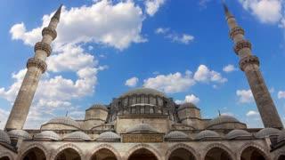 Sultanahmet Camii in Istanbul. Time Lapse