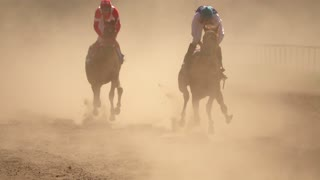 Two Riders in the Dust. Super Slow Motion