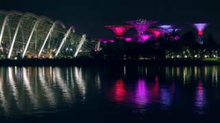 Singapore Night Light Show in Gardens by the Bay
